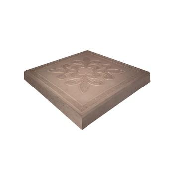 Плитка тротуарная Краковская, 300x300x30мм коричневая