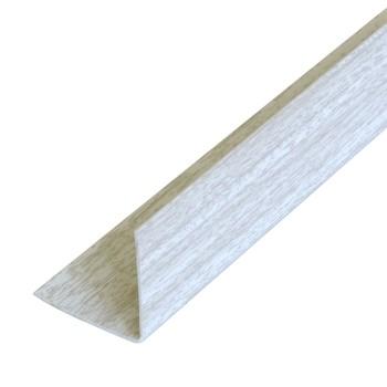 Уголок ПВХ 15х15х2700 ясень белый