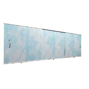 Экран под ванну 1,5х0,5м св. голубой, шт