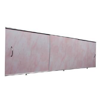 Экран под ванну 1,5х0,5м св. розовый, шт