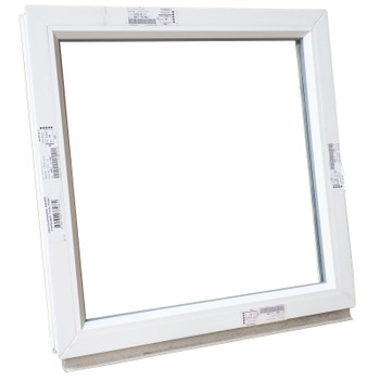 Окно ПВХ 600х600 глухое белое