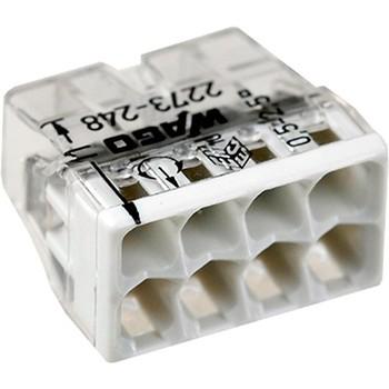 Клемма 8х(0.5-2.5мм) для распред. короб. (с контактн. пастой Alu-Plus) WAGO 2273-248