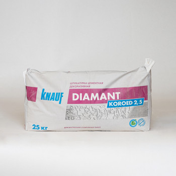 Штукатурка декоративная Кнауф Диамант короед (зерно 2,5 мм), 25 кг