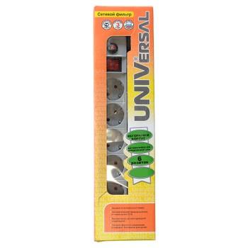 Удлинитель 6х3м с заземлением, с выключателем (ПВС 3х0.75) 10А