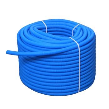 Гофрированная трубка Henco на 20 трубу, синяя (бухта 50м)