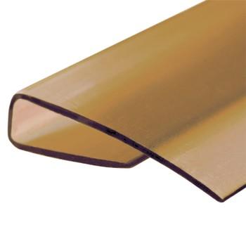 Профиль торцевой бронза коричневая 4мм х2,1м