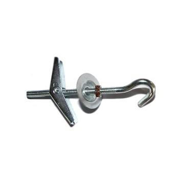 Дюбель пружинный складной С-кольцо M6*100 (с крюком)