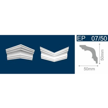 Угол для потолочных плинтусов С 07/50, (4 угла/уп)