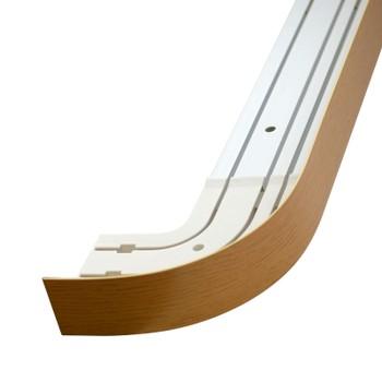 Карниз потолочный с планкой (светлый дуб) для штор трехрядный 2,4 м, Магеллан