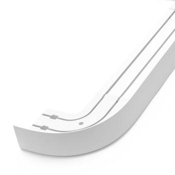 Карниз потолочный с планкой (белый) для штор двухрядный 1,8м, Магеллан
