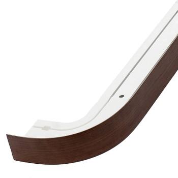 Карниз потолочный с планкой (черешня) для штор двухрядный 1,8м, Магеллан