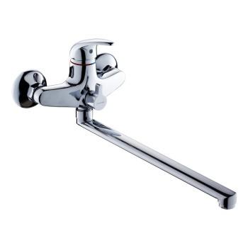 Смеситель д/ванны и душа GROSS AQUA Basic с длинным изливом 350 мм 7242257С-35L(F)
