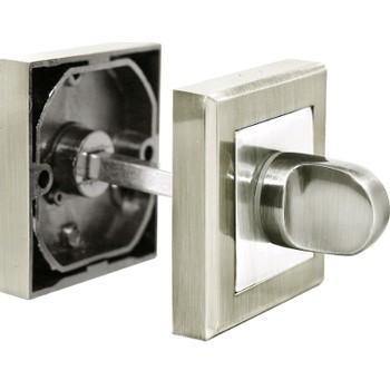 Завертка сантехническая (фиксатор) RUCETTI (SN/CP Белый никель/хром, Матрица, RAP WC)