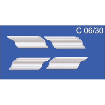 Угол для потолочных плинтусов С 06/30, (4 угла/уп)
