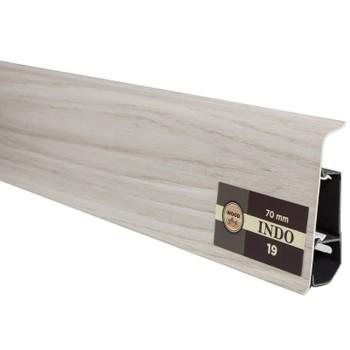 *удал*Плинтус Arbiton INDO пластиковый (19, *, Дуб Антарио, 70х26х2500 мм)