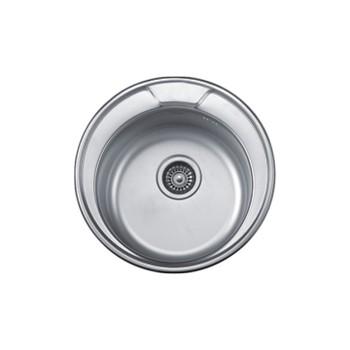 Мойка врезная Accoona A54949 круглая матовая