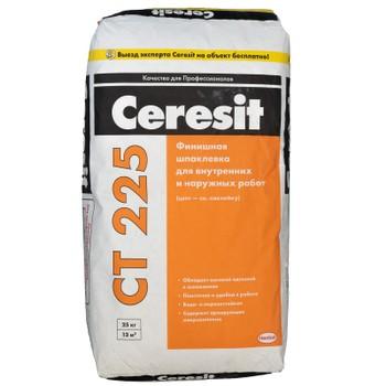 Шпаклевка финишная Ceresit CT225 белая, 25 кг