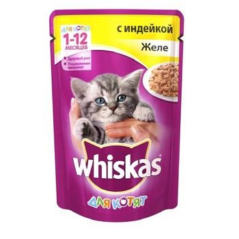 Корм для котят желе с индейкой 85г, Whiskas