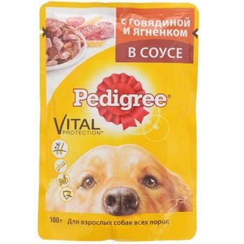 Корм для собак говядина/ягненок 100г, Pedigree