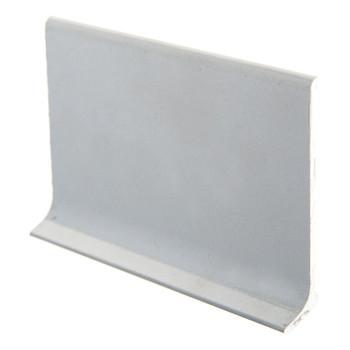 Плинтус алюминиевый L-образ ЭлитПроф (60х11х2500мм) полимерное покрытие, серебристый