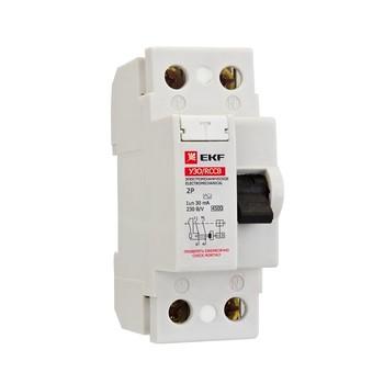 Выключатель диф. тока 2п 25А 30мА УЗО (электромех.) Basic ЭКФ elcb-2-25-30-em-sim