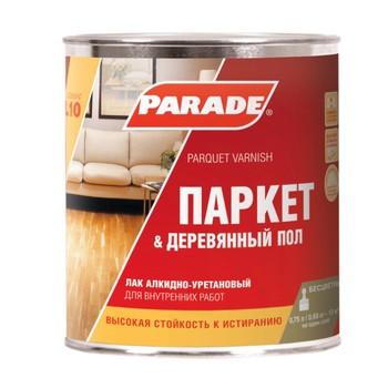 Лак паркетный алкидно-уретановый L10, PARADE, п/матовый, 0,75л