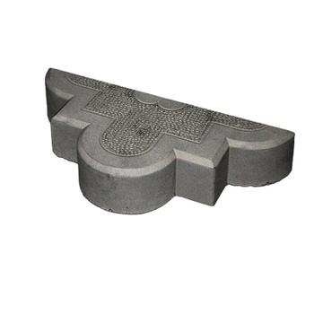 Брусчатка Гжель половинка ЭКО-плит, черный