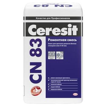 Ремонтная смесь для бетона Ceresit CN83, 25 кг