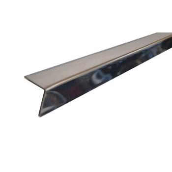 Профиль угловой алюминиевый Албес 19х24 мм супер-хром люкс L=3 м