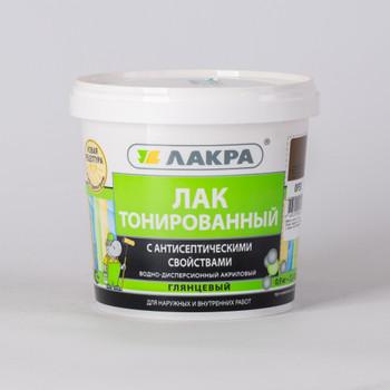 Лак в/д ЛАКРА, тонированный, Орех (0,9 кг)