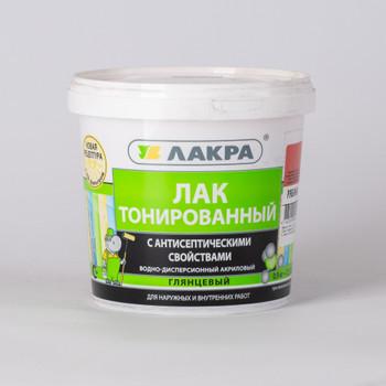 Лак в/д ЛАКРА, тонированный, Рябина (0,9 кг)