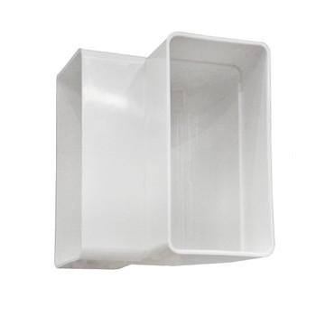 Колено плоское вертикальное 55x110мм, ВЕНТС