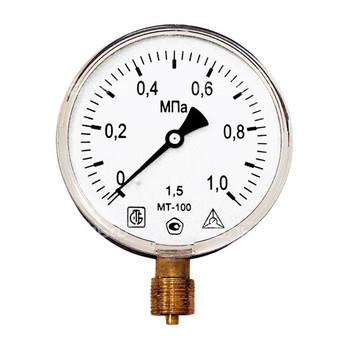 Манометр радиальный 10 бар (кгс/см2), d=100мм, G1/2, МТ-100