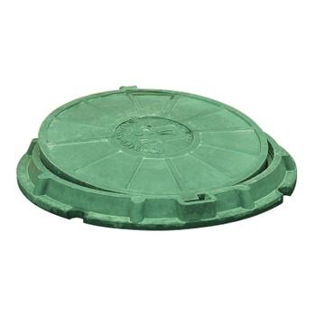 Люк полимерпесчаный 620х750х600х25 (зеленый)
