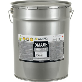 Эмаль НЦ-132 желтая, 17кг (Лакра)