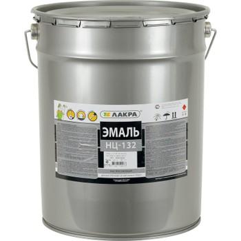 Эмаль НЦ-132 коричневая, 17кг (Лакра)