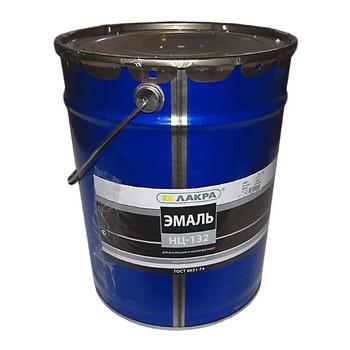 Эмаль НЦ-132 черная, 17кг (Лакра)