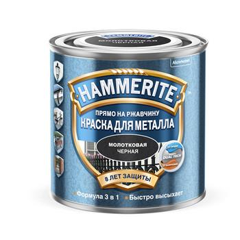 Краска Hammerite черная (молотк.эффект) 2,5л