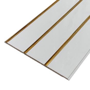 Панель стеновая ПВХ П-24 Софитто 3 полосы золото 240х3000 мм