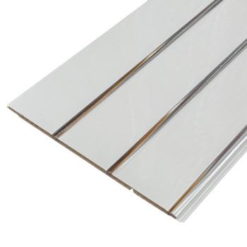Панель стеновая ПВХ П-24 Софитто 3 полосы серебро 240х3000 мм