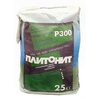 Ровнитель цементный Плитонит Р300, 25 кг