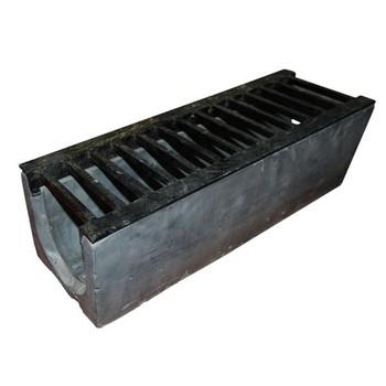 Слив большой с решеткой черный (50х17х15)