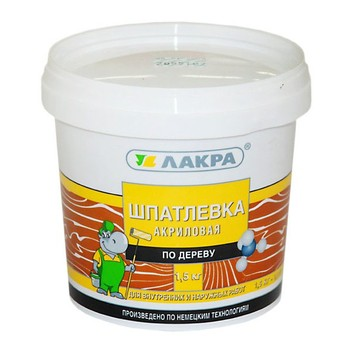 Шпатлевка по дереву ЛАКРА (сосна), 1,5 кг