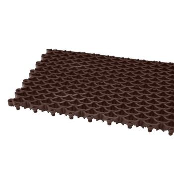 Покрытие сборное мелкоячеистое Сити Барьер 16 мм, 400х100 мм, 25 шт/м2, коричневый