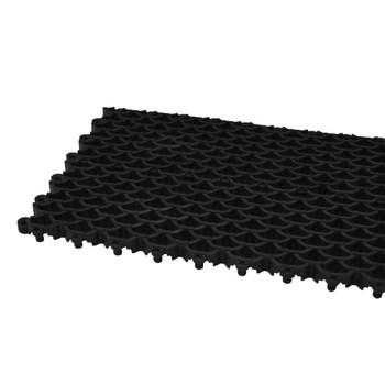 Покрытие сборное мелкоячеистое Сити Барьер 16 мм, 400х100 мм, 25 шт/м2, черный