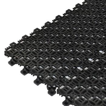 Покрытие сборное мелкоячеистое Сити Пласт 15мм, 116х385, 24 шт/м2, Черный