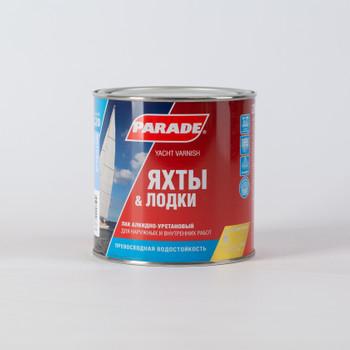 Лак яхтный алкидно-уретановый PARADE L20, матовый, 0,75 л