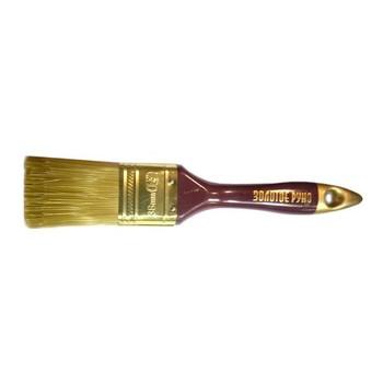 Кисть плоская #1,5(38мм) искусств. щетина, дерев. ручка, Золотое руно