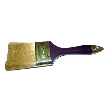 Кисть плоская #2,5(63мм) искусств. щетина, дерев. ручка, Золотое руно