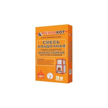 Кладочная смесь глино-шамотная для печей Терракот, 20 кг